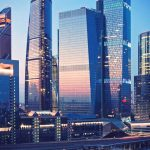 Moscow city scyscrapers