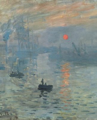 Claude Monet painting Impression Sunrise