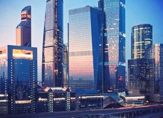 Moscow city scyscrapers