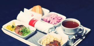 menu food airline Russia flights from St.Petersburg